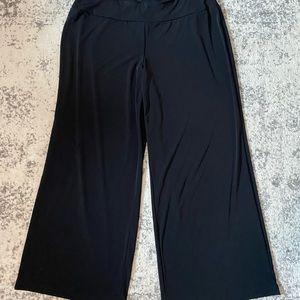 Lane Bryant wide leg casual pants black 20